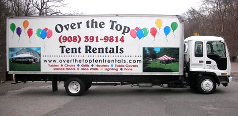 Look for our truck - Over The Top Tent Rentals, LLC
